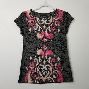 International Concepts Printed Burnout Top Size M